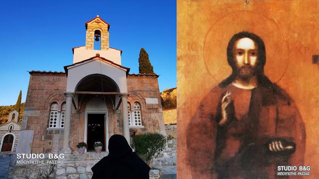 """""""Ο Φανερωμένος Χριστός"""": Η εύρεση της θαυματουργής εικόνας στην Αγία Μονή Ναυπλίου"""