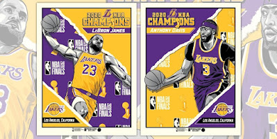 Los Angeles Lakers 2020 NBA Champions LeBron James & Anthony Davis Screen Prints by Fitz x Phenom Gallery