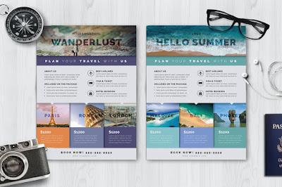 Brosur travel agent