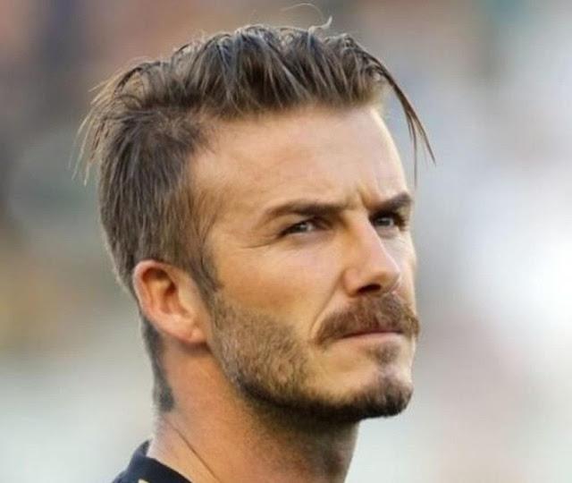 David Beckham Messy Hairstyle