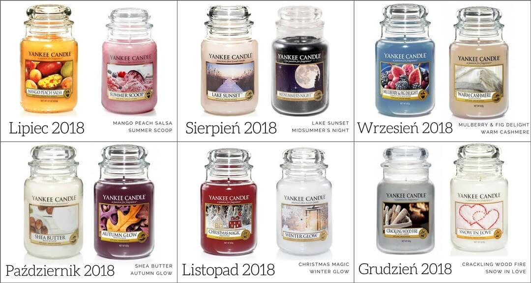 zapachy miesiaca yankee candle na II połowę roku 2018