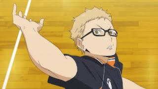 ハイキュー!! アニメ 2期12話 月島蛍 ツッキー | HAIKYU!!  Ohgiminami high vs Karasuno