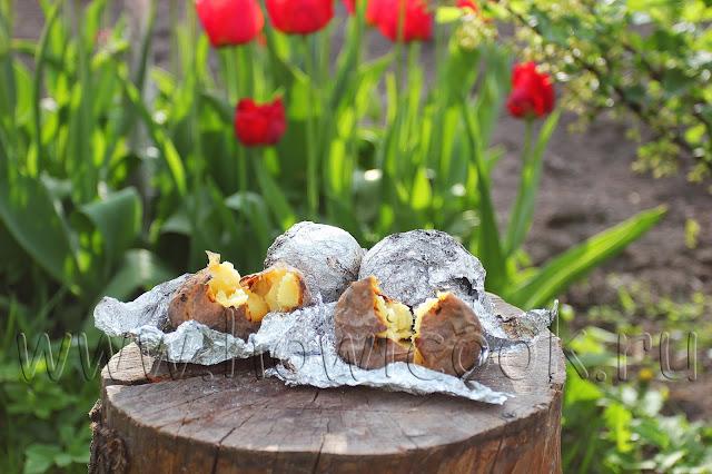 рецепт печеного картофеля в углях