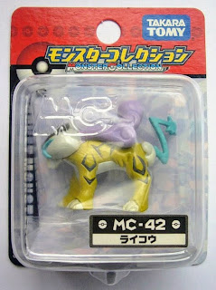 Raikou Pokemon figure Takara Tomy Monster Collection MC series