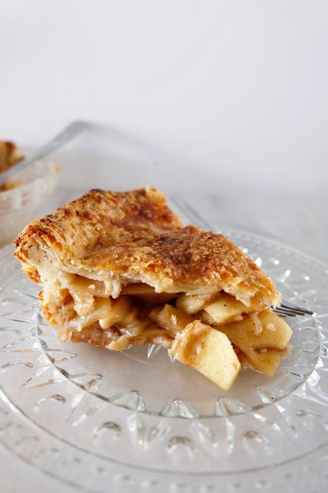 slice of buttermilk crusted apple pie