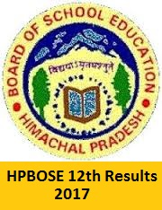 HPBOSE 12th Results 2017
