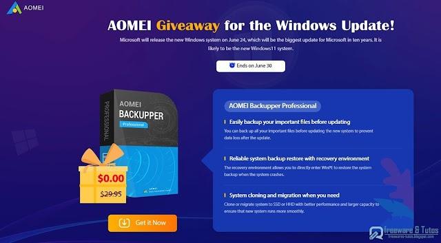 Offre promotionnelle : AOMEI Backupper Pro et AOMEI Partition Assistant Pro gratuits !