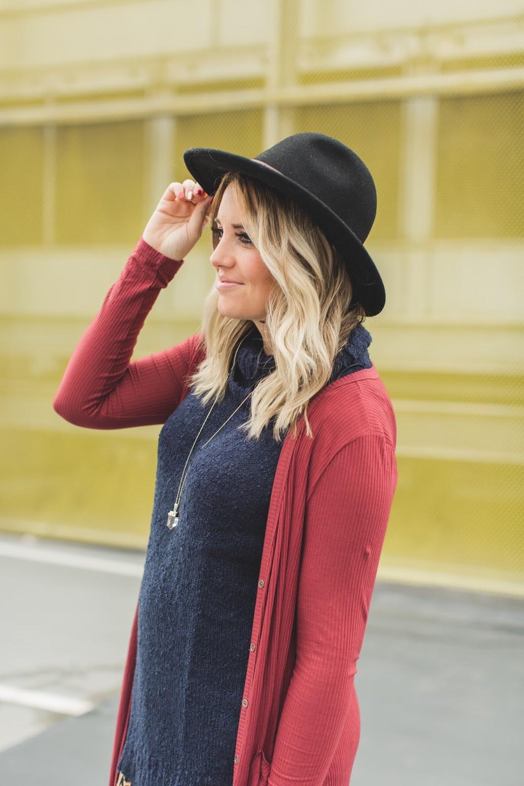 Utah Fashion Blogger, Turtleneck, Pink Blush, Modest Fashion Blogger