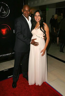 Mahiely Woodbin with her husband Bokeem when she was pregnant