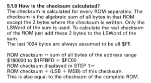 5.1.9 How is the checksum calculated?