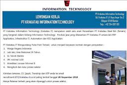 PT Krakatau Information Technology Membuka Loker Cilegon 2018 Untuk Anda