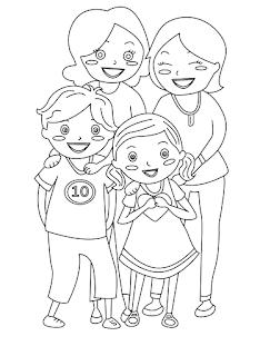 דף צביעה משפחה להטבית משפחה גאה