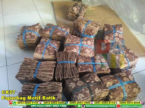 jual Paperbag Motif Batik