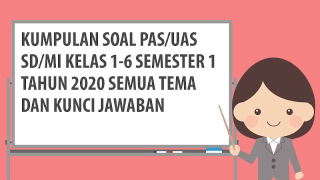 Soal PAS/UAS SD/MI Semester 1 Tahun 2020 Kurikulum 2013
