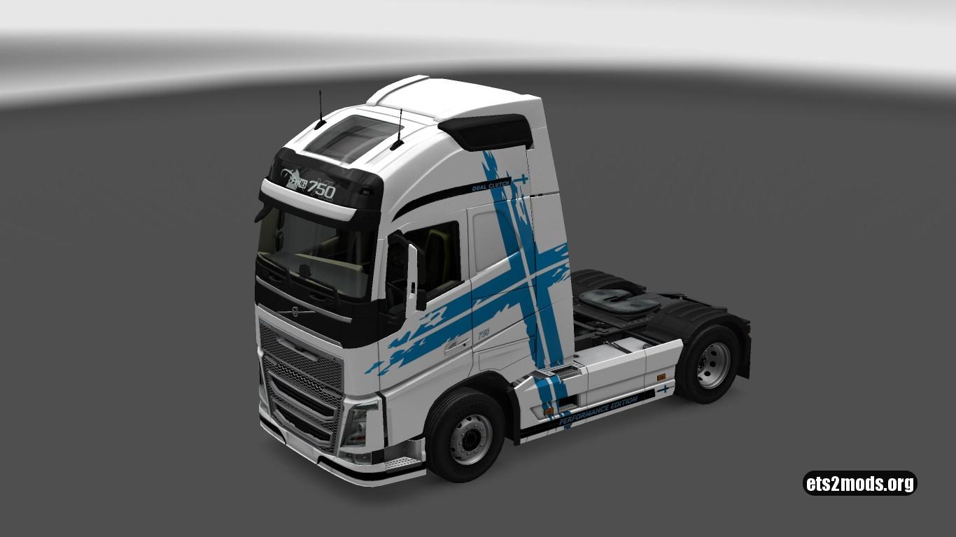 Volvo 2012 P.E.B Finland Flag Skin
