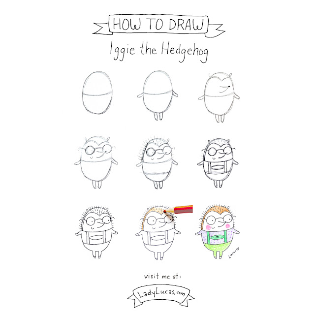 How to Draw a Hedgehog : Lady Lucas Style | Linzer Lane Blog
