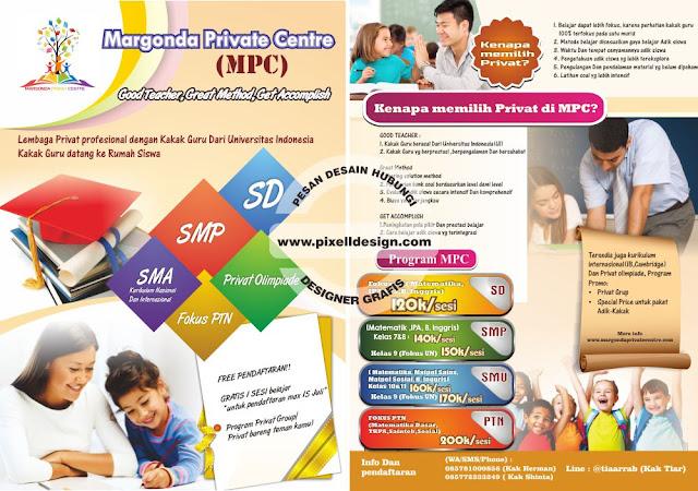Iklan Brosur Bimbel Les Privat SD / SMP / SMA