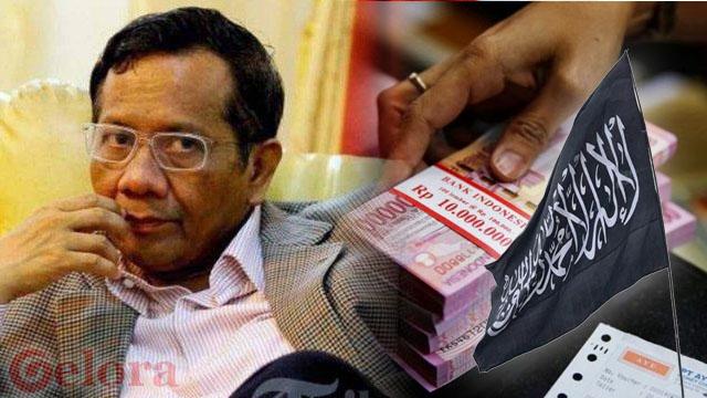 Rp35 Juta untuk Mahfud MD jika Berani Berpose dengan Membawa Bendera Kalimat Tauhid