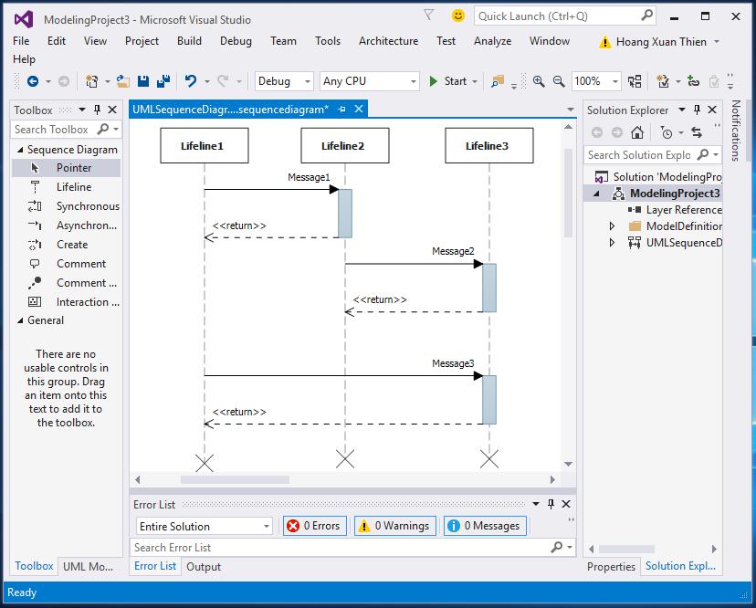 Vẽ UML trong Visual Studio 2015