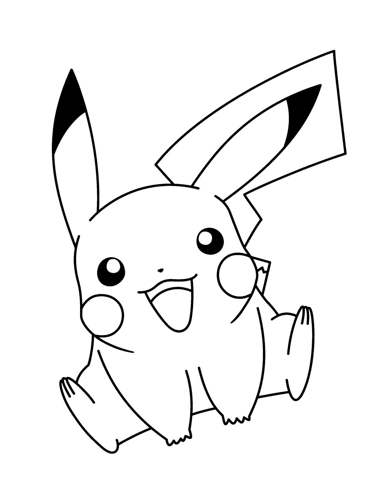 best large print cute pokemon pikachu coloring books printable