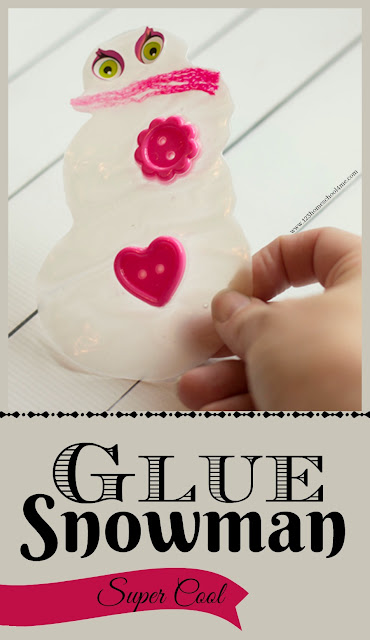 Glue snowman craft - this super clever and unique winter craft for kids is fun to make and display. this snowman project is great for kids from toddler, preschool, kindergarten, first grade, 2nd grade, 3rd grade, and 4th grade kids.