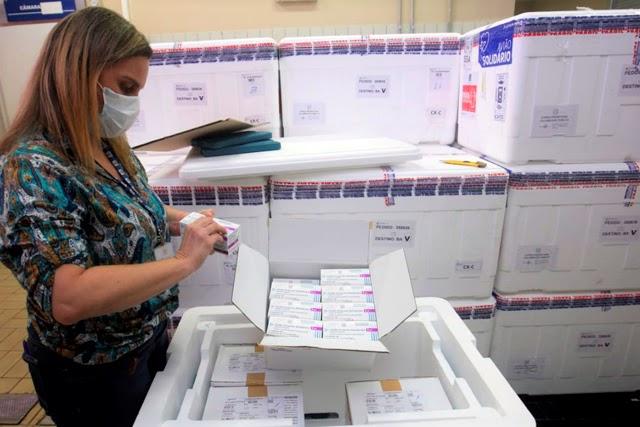 Bahia recebe 244.200 doses de vacina contra Covid-19