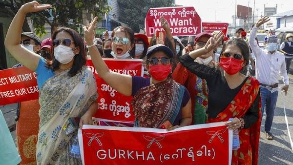 Demonstran Myanmar Serukan Mogok Massal untuk Lawan Kudeta Militer