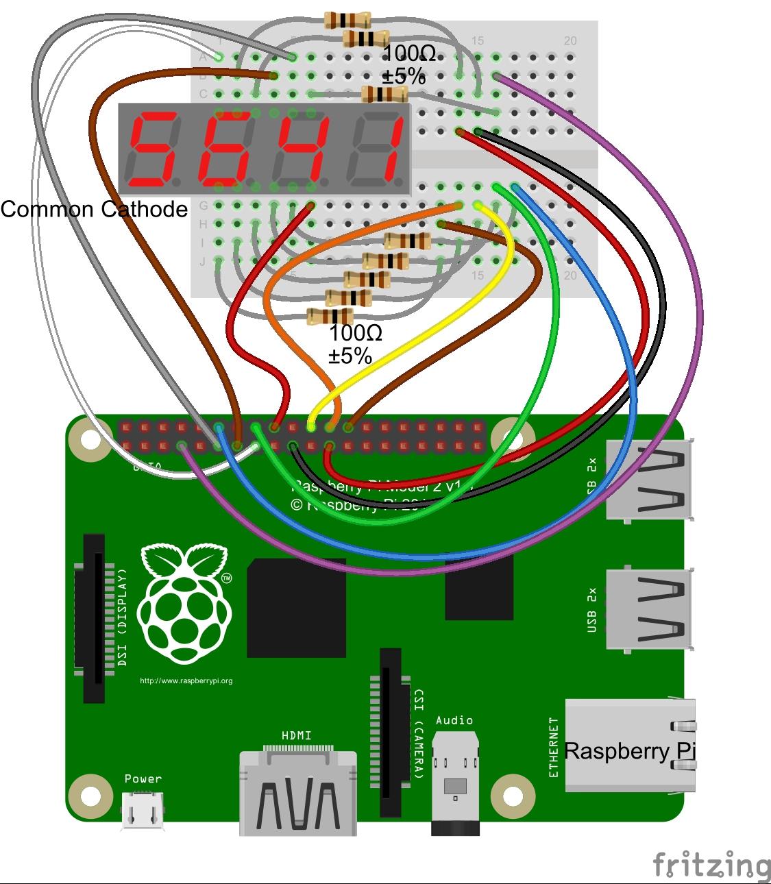 Seven Segment Pin Diagram Gm 7 Way Trailer Plug Wiring Sparks N Smoke 70 The 4 Digit Led Display
