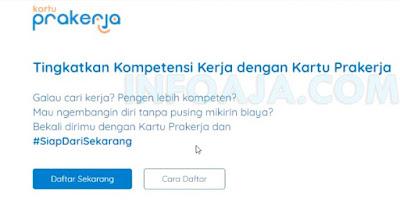 Buka website prakerja