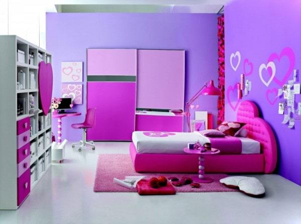 غرفة نوم للبنات بلون مميز و رائع 2020