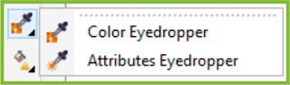 Eyedropper Tool Flyout CorelDRAW X7