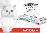 Logo Campioni omaggio Purina Gourmet Crystal: rispondi e ricevi un kit da 3 assaggi