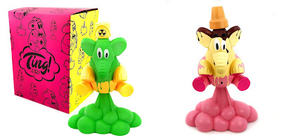 I am Retro Exclusive Ting Vinyl Figure Toxic Spill & Neapolitan Editions by Sket One x 3DRetro