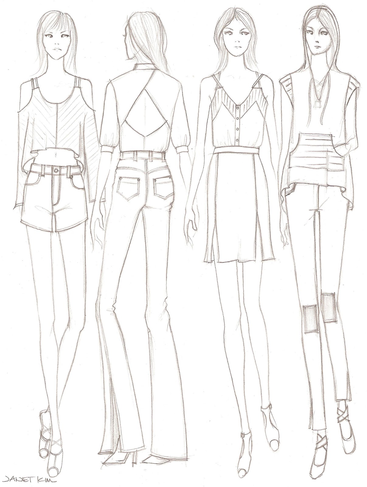 easy fashion design sketches - photo #3
