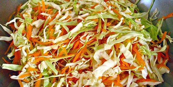 गाजर कोबीचे सॅलड - पाककला | Gajar Kobi Salad - Recipe
