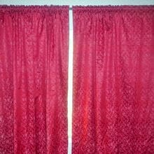 Living Room Curtain Red