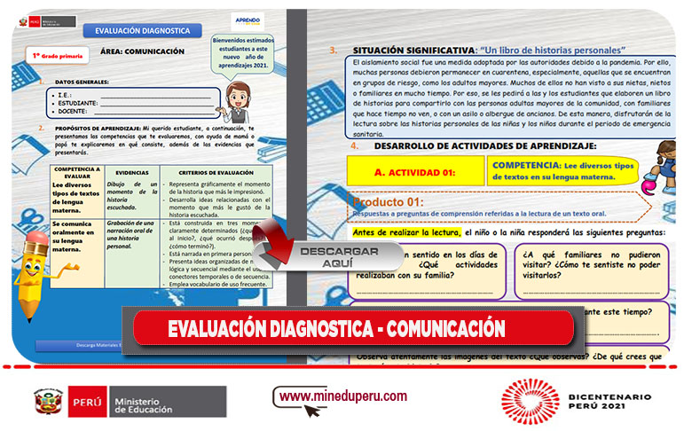 Evaluación diagnostico 2021