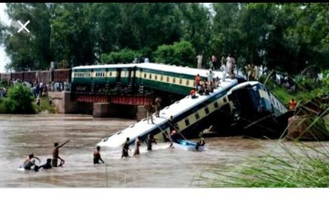 Train derails in Pakistan, 20 injured
