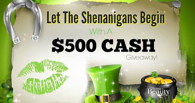 Let The Shenanigans Begin with A $500 Lucky Cash Giveaway, By Barbie's Beauty Bits