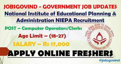 NIEPA Recruitment 2021