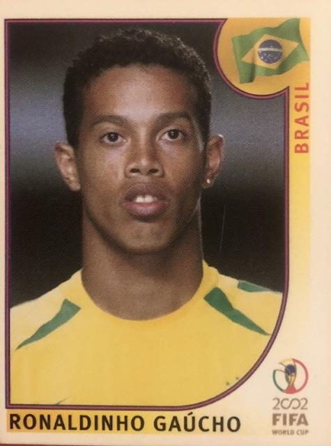 Figurina aggiornamento Ronaldinho Korea 2002