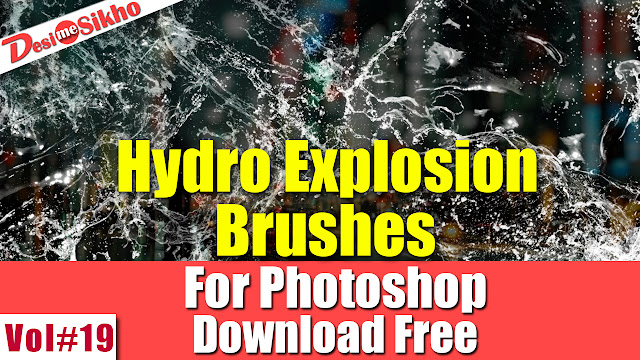 Hydro Explosion Brushes Effect For Photoshop Download Free Vol#19