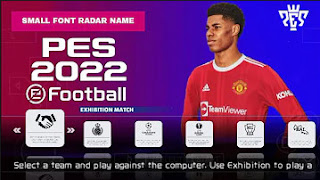 Download PES 2022 PPSSPP English Version CV1 Small Font Radar Name & New Kits And Transfer