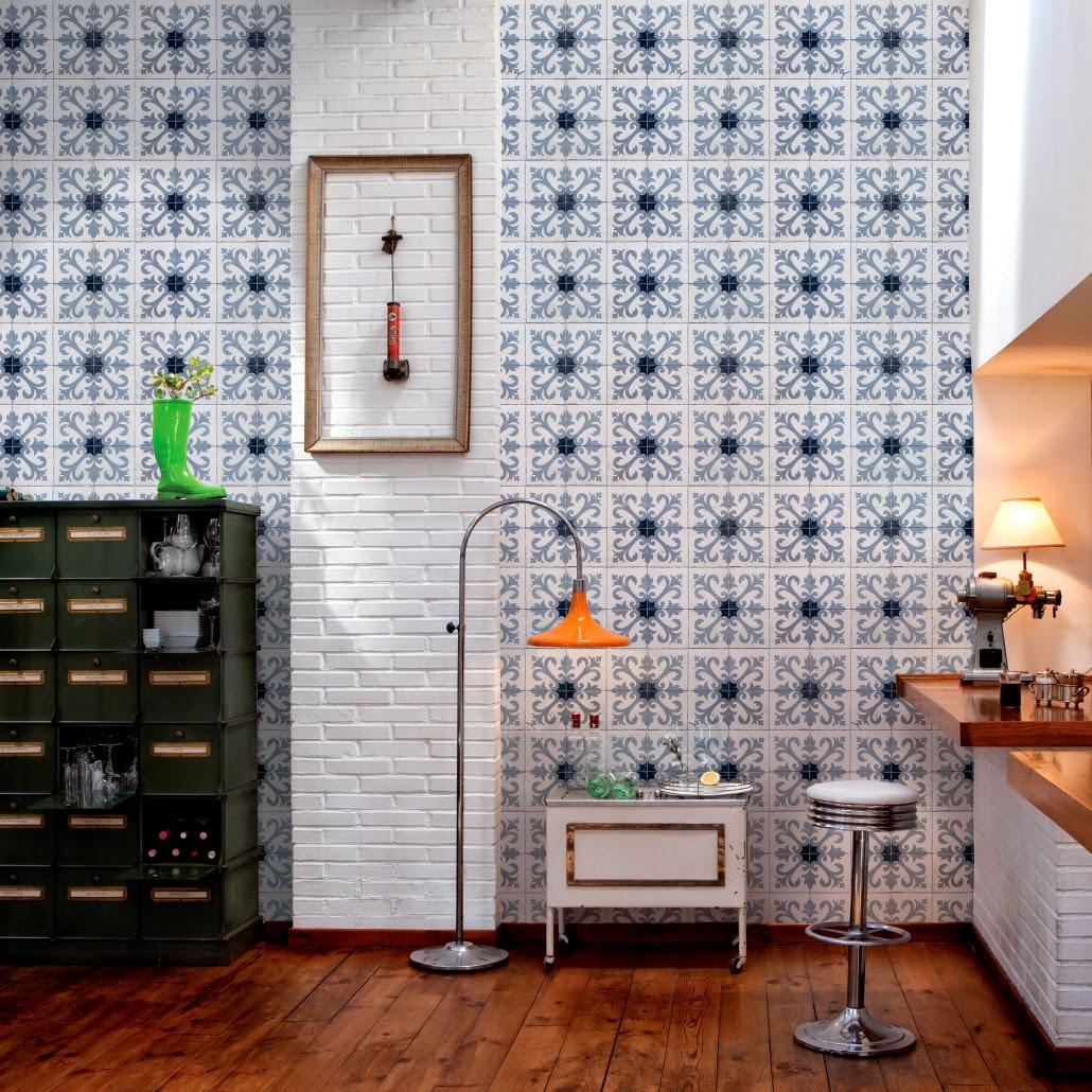 papier peint carreau de ciment. Black Bedroom Furniture Sets. Home Design Ideas