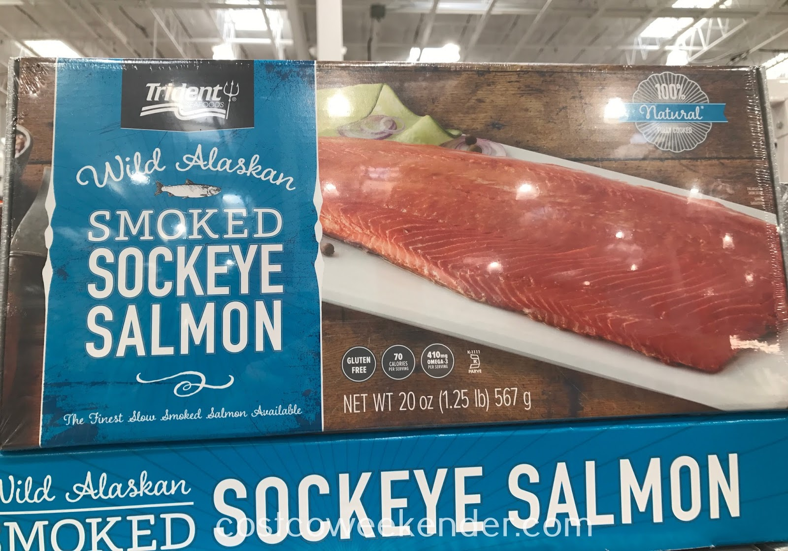 Enjoy a healthy protein by eating Wild Alaskan Smoked Sockeye Salmon