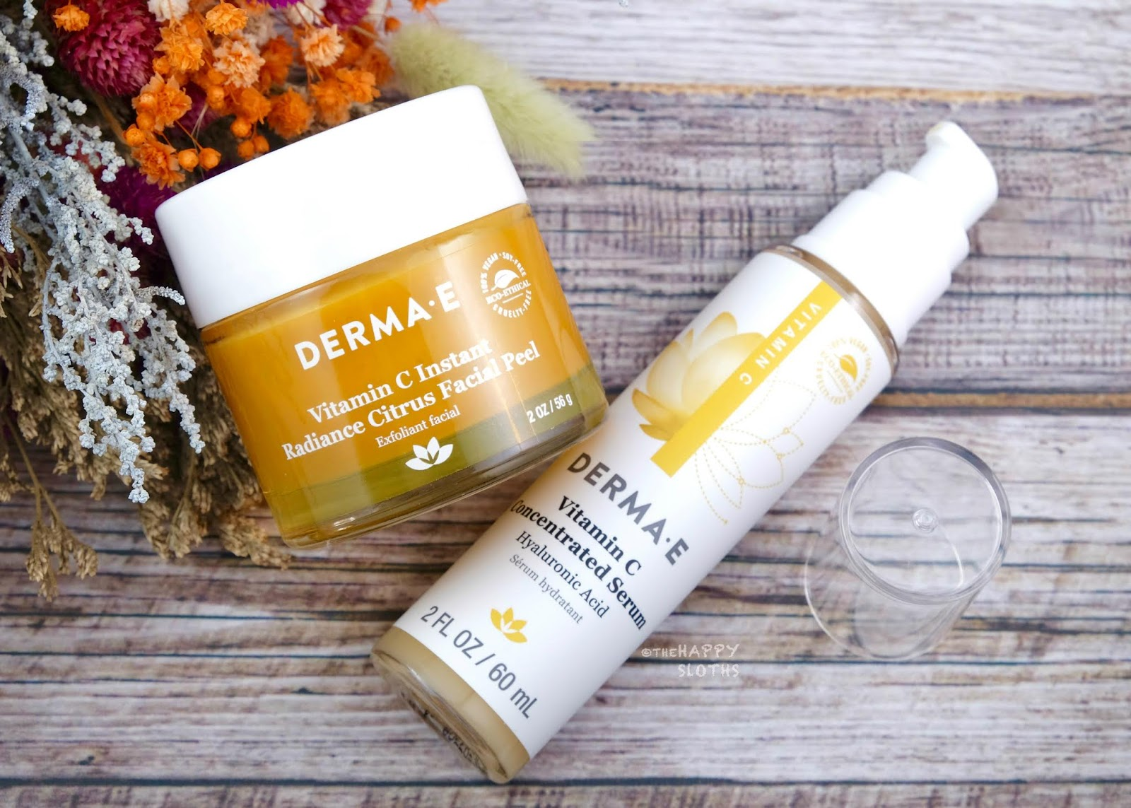 Derma E | Vitamin C Instant Radiance Citrus Facial Peel & Vitamin C Concentrated Serum: Review