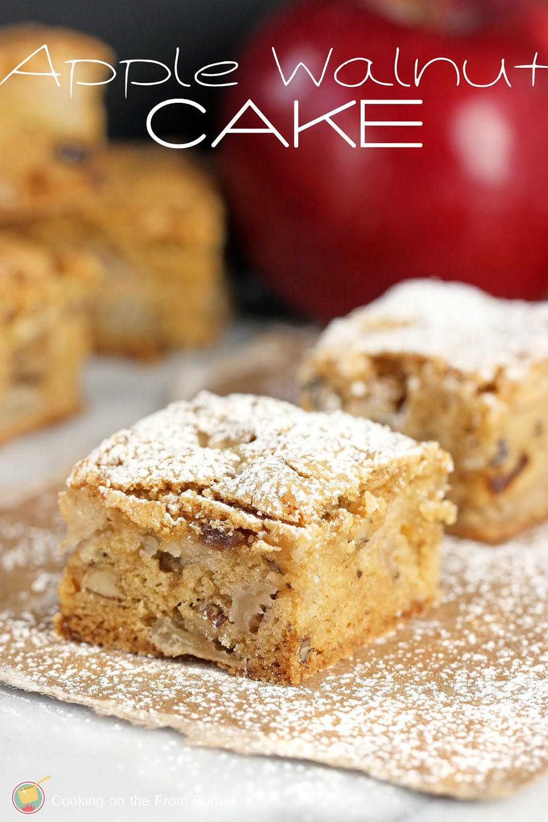 Apple Walnut Cake | Cooking on the Front Burner