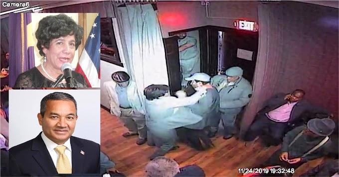 VIDEO -  Subcomisionada de Cultura responde a golpes supuestos insultos y burlas de un dirigente del PLD que le adeuda dinero