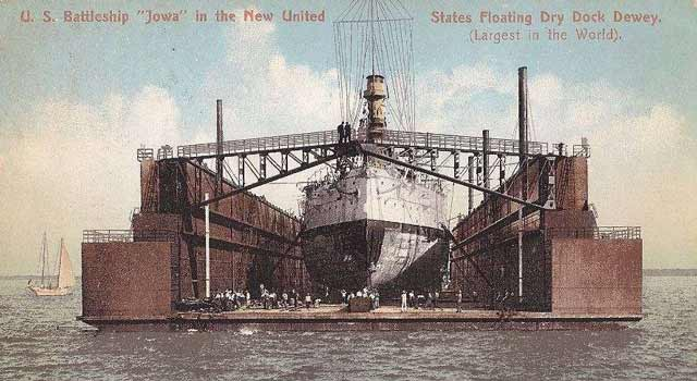 US floating dry dock Dewey, scuttled on 8 April 1942 worldwartwo.filminspector.com