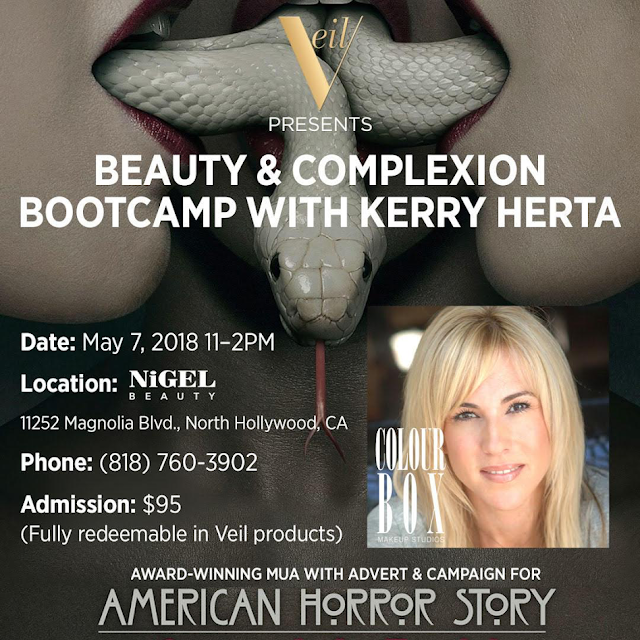 Kerry Herta, American Horror Story, celebrity makeup artist, Beauty Bootcamp, master class, Nigel Beauty Emporium, Veil Cosmetics